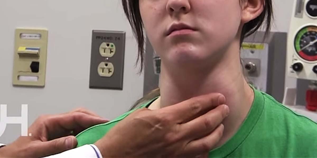 Thyroid gland pediatric exam